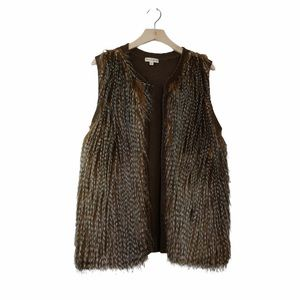 Love On A Hanger Faux Fur Front Cable Knit Sweater